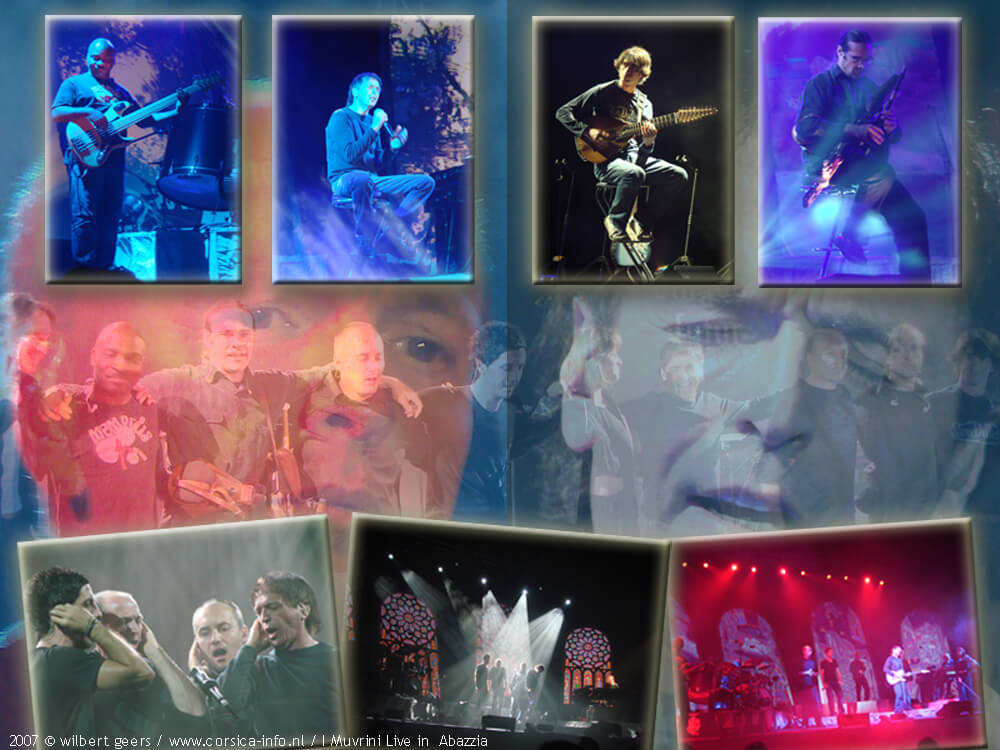 Collage I Muvrini concert op Corsica
