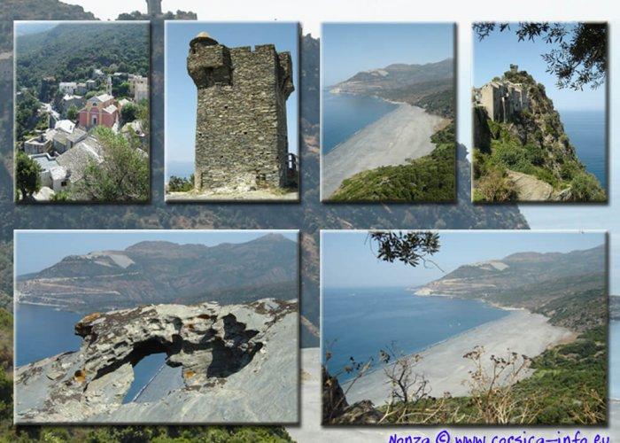 Corisca strand en toren Nonza