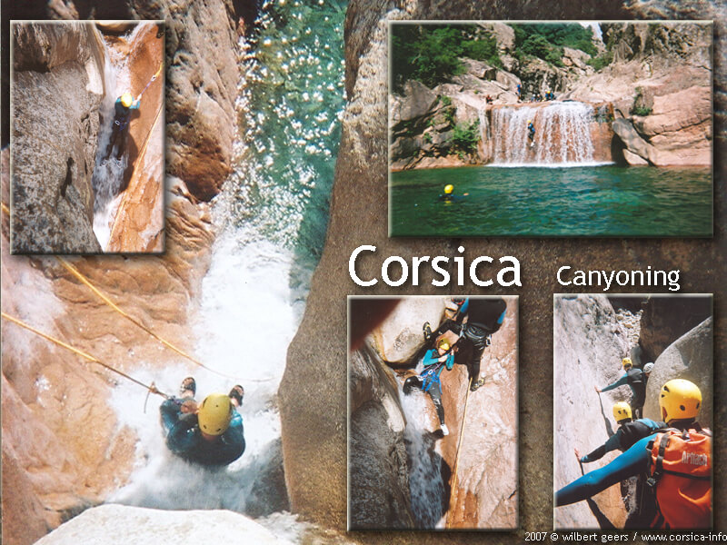 Corsica canyoning Vacca in de Bavella