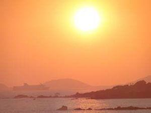 Avondzon bij Sanguinaire